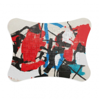 Red Blue Black Irregular Pattern Art Painting Paper Card Puzzle Frame Jigsaw Game Home Decoration Gift