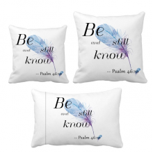 Be Still And Know Bible Quote Lyrics Throw Pillows Set Insert Cushion Cover Home Sofa Decor Gift