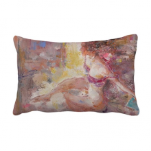 Art Body Nudity Light XJJ Oil Painting Throw Lumbar Pillow Insert Cushion Cover Home Sofa Decor Gift