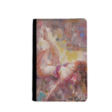 Art Body Nudity Light XJJ Oil Painting Passpord Holder Travel Wallet Cover Case Card Purse Gifts