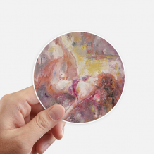 Art Body Nudity Light XJJ Oil Painting Round Stickers 10cm Wall Suitcase Laptop Motobike Decal 8pcs