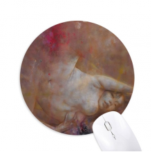 Art Body Nudity XJJ Oil Painting Round Non-Slip Rubber Mousepad Game Office Mouse Pad Gift