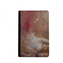 Art Body Nudity XJJ Oil Painting Passpord Holder Travel Wallet Cover Case Card Purse Gifts