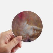 Art Body Nudity XJJ Oil Painting Round Stickers 10cm Wall Suitcase Laptop Motobike Decal 8pcs