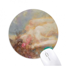 Body Art Nudity Girl XJJ Oil Painting Round Non-Slip Rubber Mousepad Game Office Mouse Pad Gift
