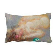 Body Art Nudity Girl XJJ Oil Painting Throw Pillow Lumbar Insert Cushion Cover Home Decoration
