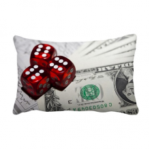 Dollar Coin Red Dice Gambling Photo Throw Pillow Lumbar Insert Cushion Cover Home Decoration