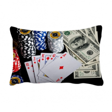 Dollar Chip Card Gambling Photo Throw Lumbar Pillow Insert Cushion Cover Home Sofa Decor Gift