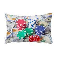 Chip Dollar Gambling Photo Throw Lumbar Pillow Insert Cushion Cover Home Sofa Decor Gift