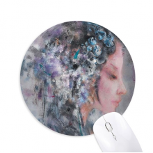 Art Chinese Opera Oil Painting Makeup Round Non-Slip Rubber Mousepad Game Office Mouse Pad Gift