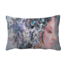 Art Chinese Opera Oil Painting Makeup Throw Lumbar Pillow Insert Cushion Cover Home Sofa Decor Gift