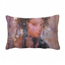 Chinese Opera Oil Painting Makeup Art Throw Pillow Lumbar Insert Cushion Cover Home Decoration