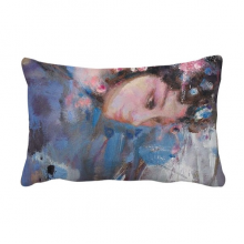 Chinese Opera Art Makeup Oil Painting Throw Pillow Lumbar Insert Cushion Cover Home Decoration