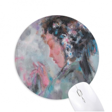 Chinese Opera Oil Painting Makeup Round Non-Slip Rubber Mousepad Game Office Mouse Pad Gift