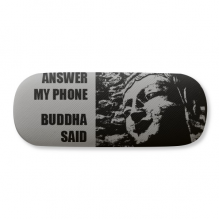 Answer My Phone Buddha Said Glasses Case Eyeglasses Clam Shell Holder Storage Box