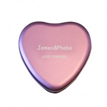 Heart shaped metal box (pack of 100)