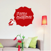 Merry Christmas Santa Claus Illustration Removable Wall Sticker Art Decals Mural DIY Wallpaper for Room Decal