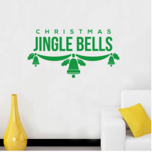 Christmas Jingle Bells Mistletoe Illustration Removable Wall Sticker Art Decals Mural DIY Wallpaper for Room Decal
