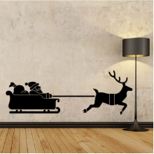 Christmas Santa Claus Reindeer Removable Wall Sticker Art Decals Mural DIY Wallpaper for Room Decal