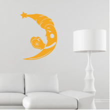 Moon Hat Star Gloves Removable Wall Sticker Art Decals Mural DIY Wallpaper for Room Decal