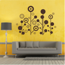 Black White Lines Circles Decoration Removable Wall Sticker Art Decals Mural DIY Wallpaper for Room Decal