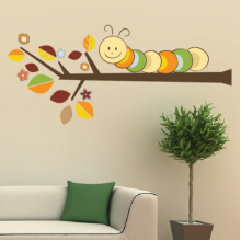 Color Caterpillar Branches Removable Wall Sticker Art Decals Mural DIY Wallpaper for Room Decal