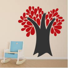 Brown Branches Reddish Brown Leaves Removable Wall Sticker Art Decals Mural DIY Wallpaper for Room Decal