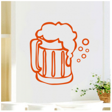 Cup Bubble Beer Pattern Removable Wall Sticker Art Decals Mural DIY Wallpaper for Room Decal