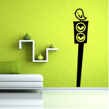 Heart-shaped Street Pattern Removable Wall Sticker Art Decals Mural DIY Wallpaper for Room Decal