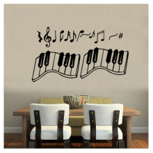 Notes Piano Pattern Removable Wall Sticker Art Decals Mural DIY Wallpaper for Room Decal