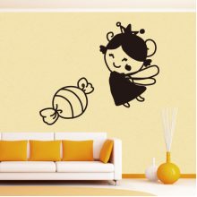 Cute Girl Sweet Removable Wall Sticker Art Decals Mural DIY Wallpaper for Room Decal