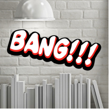 Bang English Alphabet Comics Removable Wall Sticker Art Decals Mural DIY Wallpaper for Room Decal