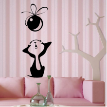 Black White Abstract Pattern Decoration Removable Wall Sticker Art Decals Mural DIY Wallpaper for Room Decal