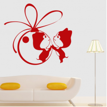 Couple Ambiguous Pattern Removable Wall Sticker Art Decals Mural DIY Wallpaper for Room Decal