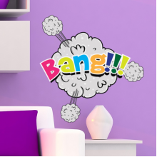 Bang Color English Alphabet Graffiti Removable Wall Sticker Art Decals Mural DIY Wallpaper for Room Decal