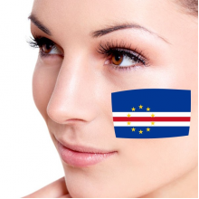 Flag of Cape Verde facial tattoo