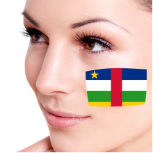 Flag of Central African Republic facial tattoo