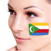 Flag of Comoros facial tattoo
