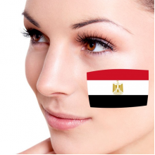 Flag of Egypt facial tattoo
