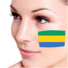 Flag of Gabon facial tattoo