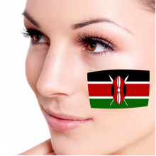Flag of Kenya facial tattoo