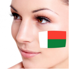 Flag of Madagascar facial tattoo