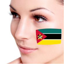 Flag of Mozambique facial tattoo