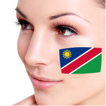 Flag of Namibia facial tattoo
