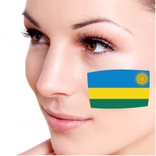 Flag of Rwanda facial tattoo
