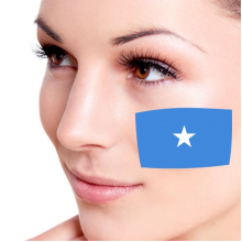 Flag of Somali facial tattoo