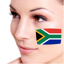 Flag of South Africa facial tattoo