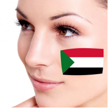 Flag of Sudan facial tattoo