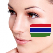 Flag of The Gambia facial tattoo