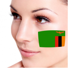 Flag of Zambia facial tattoo